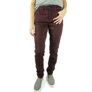 NYDJ Jeans Alina Legging Stretch Wine Red Size 0